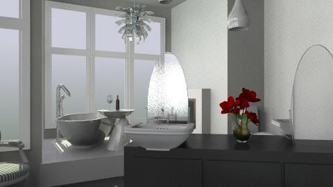 bath - Glamour - Bathroom  - by gaidoyra