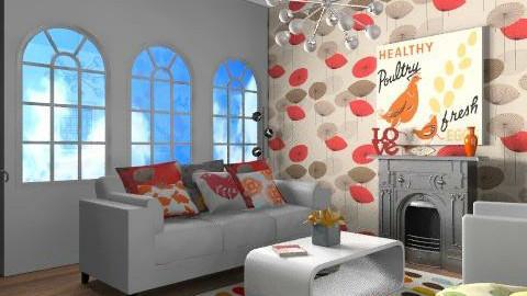 funky flat 1 - Retro - Living room  - by yasemin04