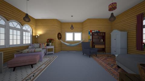 Dorm Room - Bedroom  - by kara_is_designing