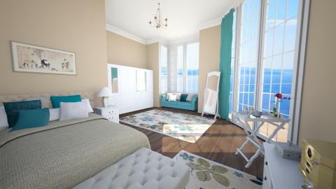 turquoise - Feminine - Bedroom  - by Senia N