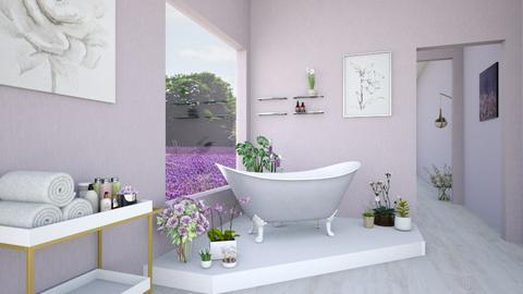 Lavender Bathroom - Modern - Bathroom  - by karisahsalim