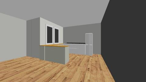 Salon_kuchnia - Modern - Living room  - by Tomek_d