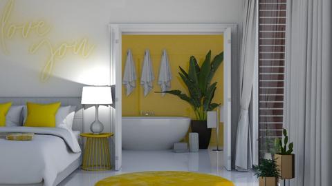 Yellows - Bedroom  - by KittyKat28
