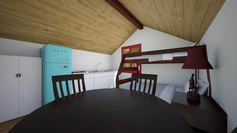 Tiny Cabin 2 - Bedroom  - by SammyJPili