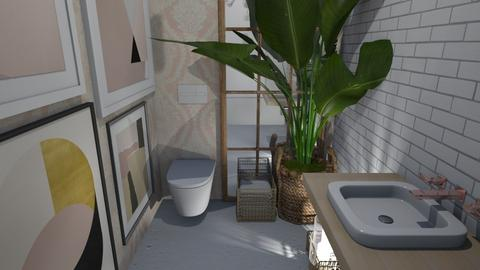 Artsy Toilet - Bathroom  - by ObsessedDiys