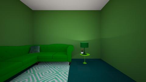 red room - Living room  - by Lexie Gallagher