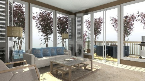 design 50 - Minimal - Living room  - by blondina14