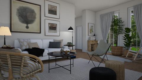Scandi boho - Living room  - by Tuija