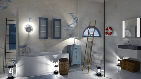 nautical bathroom fun - Bathroom  - by ashpashly