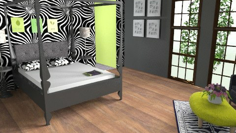 the green ZEBRA - Modern - Bedroom - by mythreesons