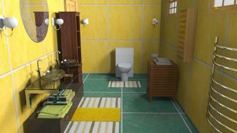 summer bathroom - Country - Bathroom  - by repelikeva