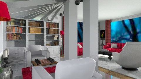 Ruby Red - Modern - Living room  - by Open Spaces