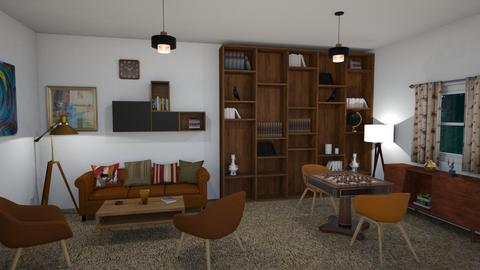 mid century living room - Retro - Living room - by petersohn