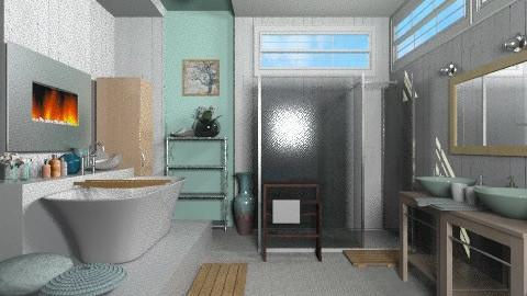 feels like the ocean - Modern - Bathroom  - by KittiFarkas
