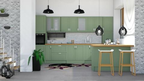 Green Kitchen - Modern - Kitchen  - by soniagoncalves