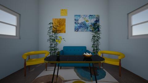 symmetrical - Living room  - by pyraam_