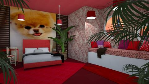 Puppy contest_ RED - Feminine - Bedroom  - by Pheebs09