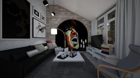 rainy day - Living room - by Grigoria Popli