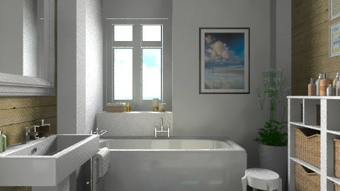 White and wood - Modern - Bathroom  - by Tuija