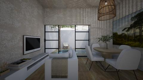 Casa314LivingArea - Minimal - Living room  - by nickynunes