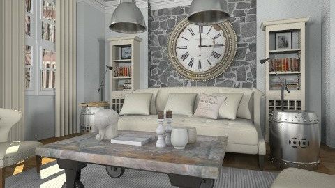 A bit industrial - Living room - by liling