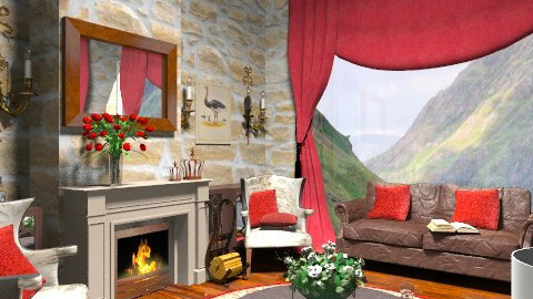 Highlands - Country - Living room  - by camilla_saurus