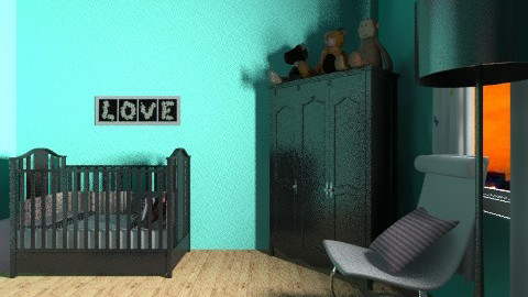 Baby Girl Nursery changin - Glamour - Kids room  - by SWANt