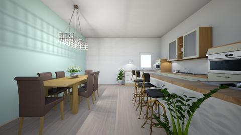 kitchen and dining room - Kitchen - by Brights_brocks