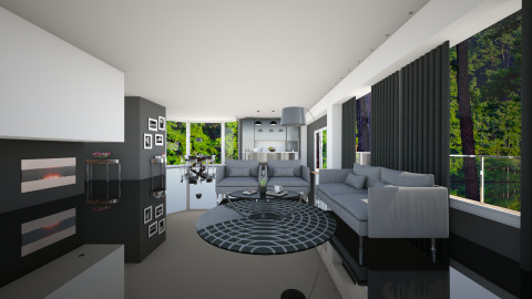 GREY BROWN  - Living room - by MadebyG