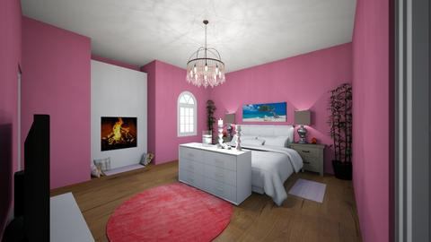 pink bedroom - Bedroom  - by girl_13