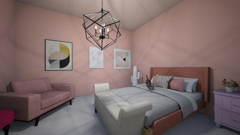 Pink Bedroom Playful  - Feminine - Bedroom - by Pinar Duzgun