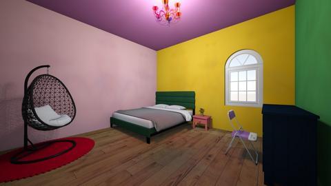 Rainbow Dorm - Eclectic - Bedroom  - by averytheunicorn