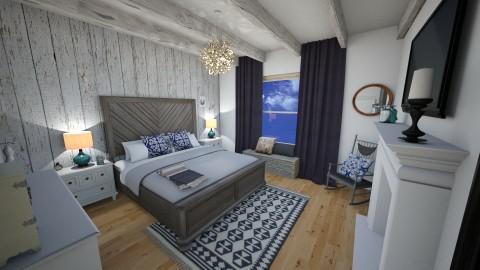 Farmhouse Bedroom - by Gillian Rene