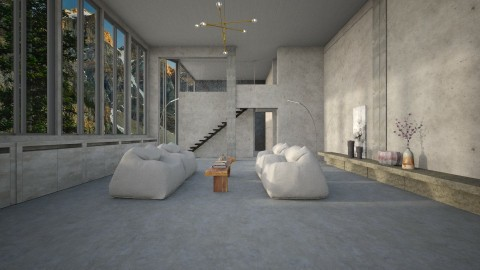 brut symmetry - Minimal - Living room  - by marinmarin