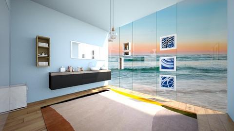 Beach bath room - by FANGIRLdesigner