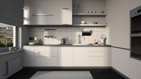White - Kitchen  - by Inna_Inas