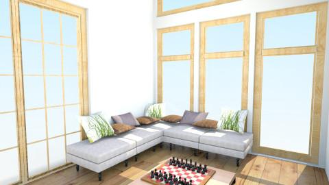 p1 - Rustic - Living room  - by Adai Bahena