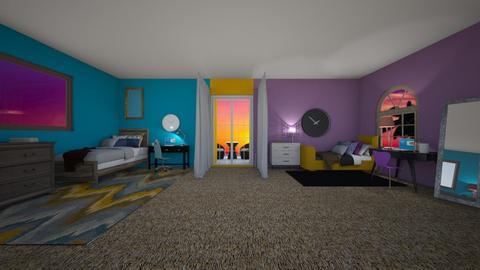 Me and my sisters bedroom - Modern - Bedroom - by designcat31