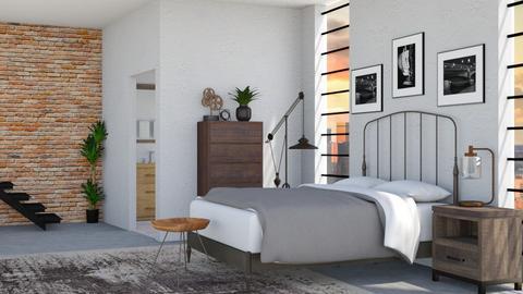 Industrial Bedroom - by flowerchild369