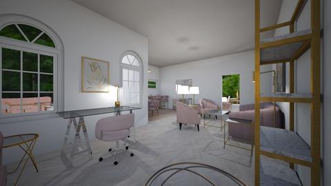 blush livimg - Feminine - Living room  - by PeculiarLeah
