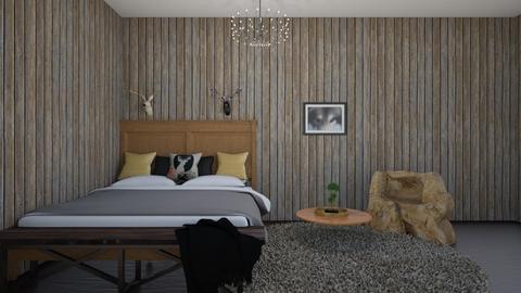 hunter bedroom - Country - Bedroom  - by aschaper