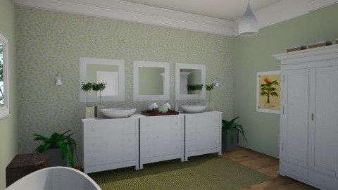 Green Bath - Bathroom - by marielabatalla