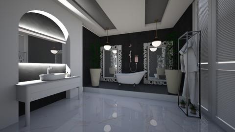 Black_White_Grey _BathRoom - Modern - Bathroom  - by Nikos Tsokos