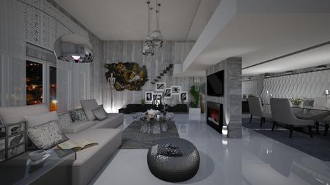 grey space - Eclectic - Living room - by soralobo