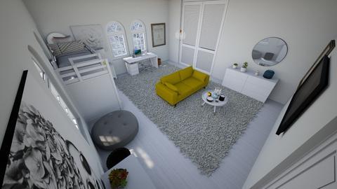 Cute girl loft bed - Bedroom  - by Chayjerad
