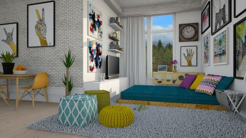 Pequeno Apartamento  - Living room  - by Sanare Sousa