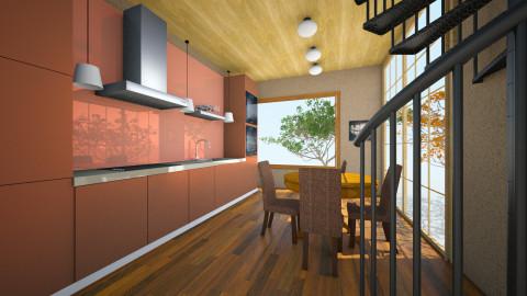 wooden color kitchen - Country - Kitchen  - by Boka i Deki