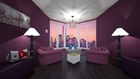 Purple - Minimal - Living room - by Sara Balerina