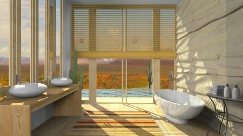 Desert WoodHouse Bathroom - Minimal - Bathroom  - by giulygi