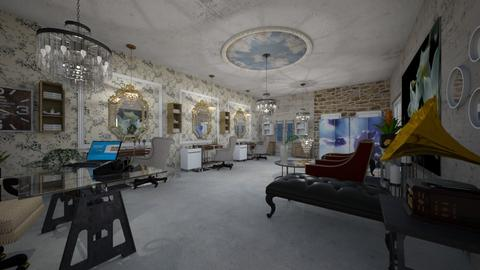 Hair _Salon_Interior_Creation - Living room - by Nikos Tsokos